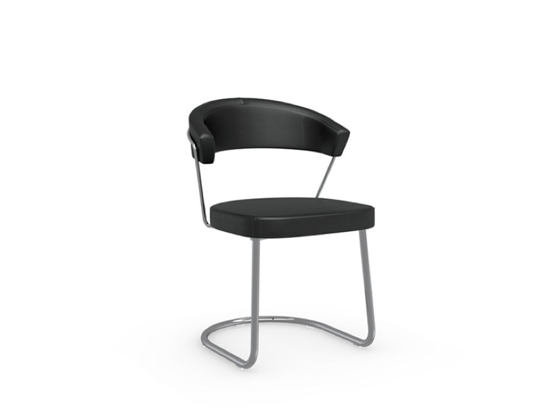 Connubia   New York Leather Cantilever Chair