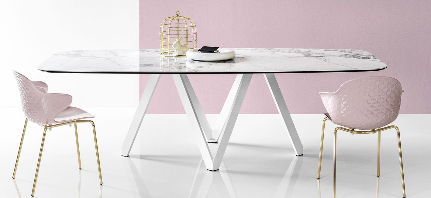 Clean Cut Ceramic Calligaris Tables.
