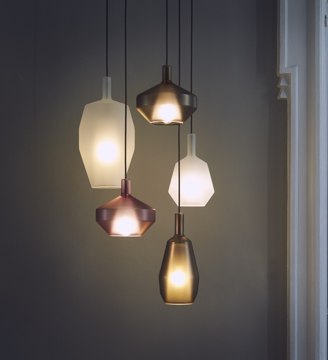 contempory lighting. Contemporary Light That Will Add Style To Any Modern Restaurant. The Geometric Shapes Are Available In A Range Of Colours And Can Be Arranged Different Contempory Lighting O