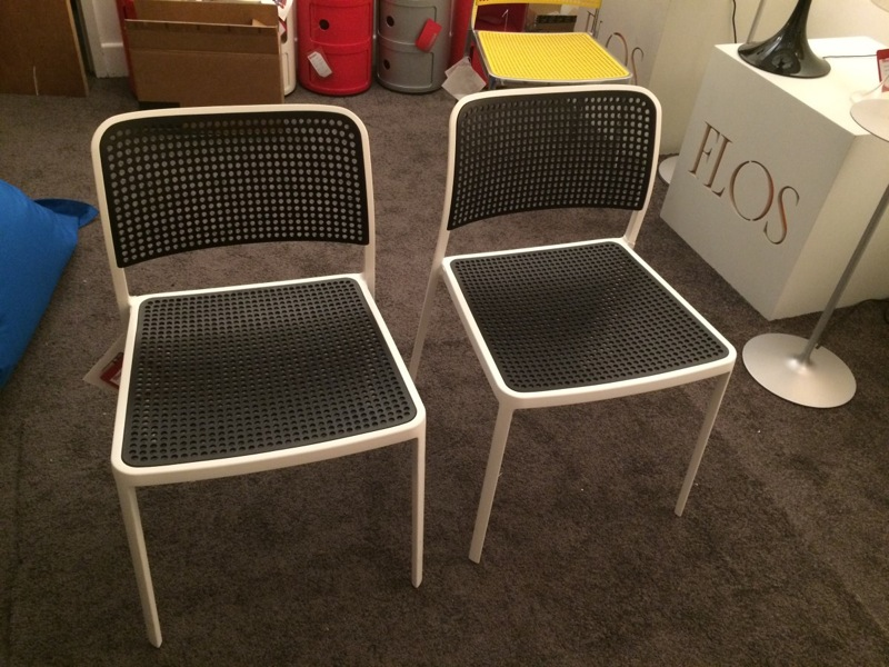 Kartell   Audrey White U0026 Black Chairs Clearance 60% Off